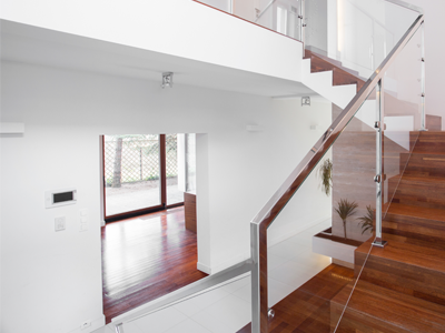 Residential Staircase Glass
